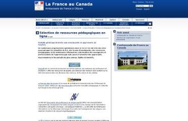 http://www.ambafrance-ca.org/Selection-de-ressources