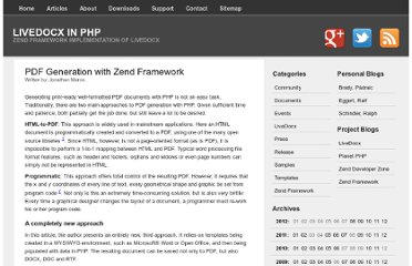 http://www.phplivedocx.org/articles/pdf-generation-with-zend-framework/