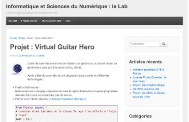 http://www.isnlab.fr/projet-virtual-guitar-hero/