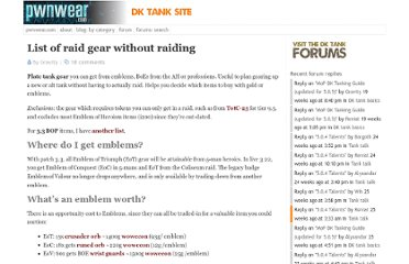 http://pwnwear.com/2009/10/11/list-of-raid-gear-without-raiding/