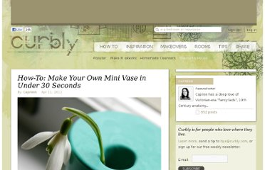 http://www.curbly.com/m/10134-how-to-make-your-own-mini-vase-in-under-30-seconds