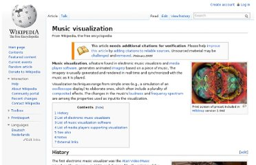 http://en.wikipedia.org/wiki/Music_visualization