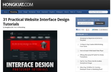 http://www.hongkiat.com/blog/31-practical-web-interface-design-tutorials/