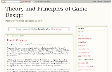 http://gamedesigntheory.blogspot.com/search/label/design%20principles