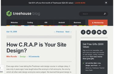 http://www.thinkvitamin.com/features/design/how-crap-is-your-site-design