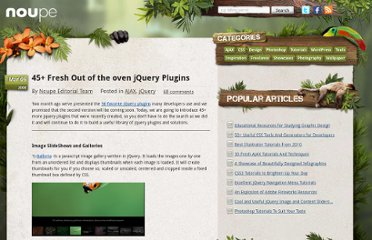 http://www.noupe.com/ajax/45-fresh-out-of-the-oven-jquery-plugins.html