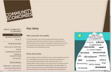 http://www.communityeconomies.org/Home/Key-Ideas