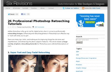 http://sixrevisions.com/photoshop/26-professional-photoshop-retouching-tutorials/#more-1251