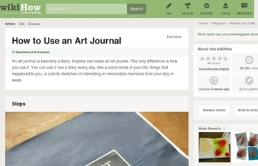 http://www.wikihow.com/Use-an-Art-Journal