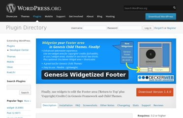 http://wordpress.org/extend/plugins/genesis-widgetized-footer/