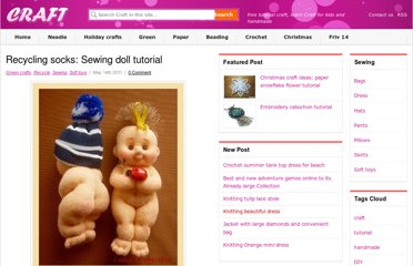 http://www.craft-craft.net/recycling-socks-sewing-doll-tutorial.html