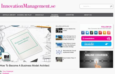 http://www.innovationmanagement.se/2013/03/01/how-to-become-a-business-model-architect/