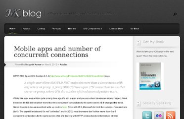 http://blog.mugunthkumar.com/articles/mobile-apps-and-number-of-concurrent-connections/