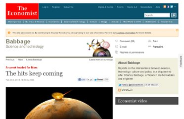 http://www.economist.com/blogs/babbage/2013/02/comet-headed-mars