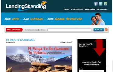 http://www.landingstanding.com/50-ways-to-be-awesome/
