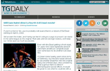 http://www.tgdaily.com/games-and-entertainment-features/69869-will-sam-raimi-direct-a-fourth-evil-dead-movie
