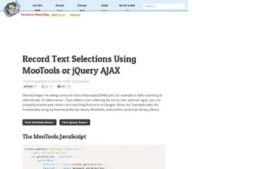 http://davidwalsh.name/text-selection-ajax