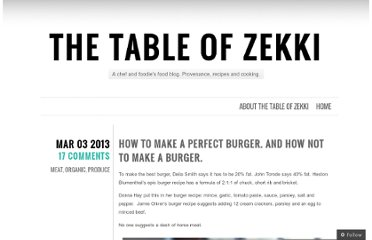 http://thetableofzekki.wordpress.com/2013/03/03/how-to-make-a-perfect-burger-and-how-not-to-make-a-burger/