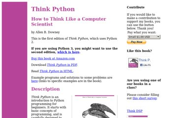 http://www.greenteapress.com/thinkpython/thinkpython.html