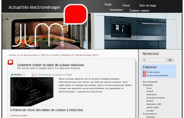 Electromenager et cuisine pearltrees for Choisir sa plaque induction