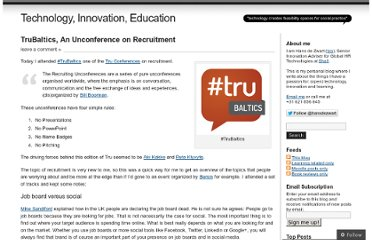 http://blog.hansdezwart.info/2013/03/01/trubaltics-an-unconference-on-recruitment/