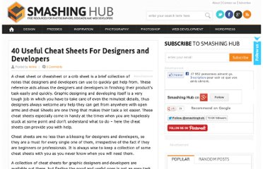 http://smashinghub.com/cheat-sheets-for-designers-and-developers.htm