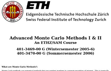 http://www.cs.fsu.edu/~mascagni/Advanced_Monte_Carlo_Methods.html