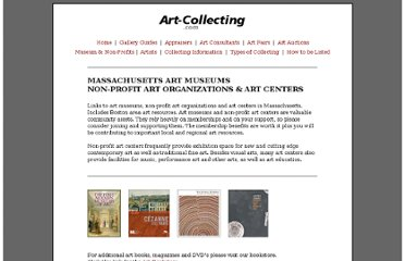 http://art-collecting.com/nonprofits_ma.htm