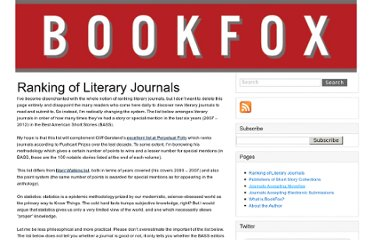 http://thejohnfox.com/ranking-of-literary-journals/