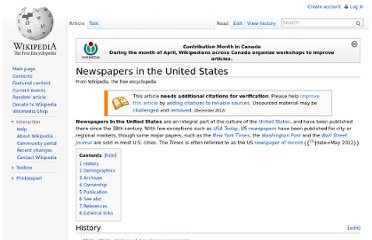 http://en.wikipedia.org/wiki/Newspapers_in_the_United_States