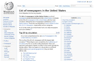 http://en.wikipedia.org/wiki/List_of_newspapers_in_the_United_States