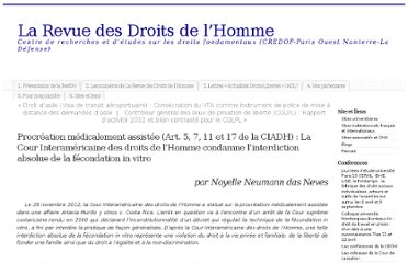http://revdh.org/2013/03/04/procreation-medicalement-assistee-cour-interamericaine-des-droits-homme-fecondation-in-vitro/