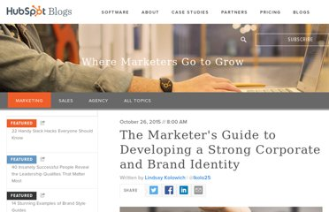 http://blog.hubspot.com/blog/tabid/6307/bid/34238/The-Marketer-s-Guide-to-Developing-a-Strong-Brand-Identity.aspx