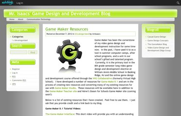 http://gamedev.edublogs.org/2012/12/07/game-maker-resources/