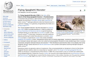 http://en.wikipedia.org/wiki/Flying_Spaghetti_Monster