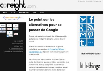 http://coreight.com/content/alternatives-google-outils-services
