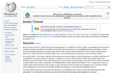 http://fr.wikipedia.org/wiki/James_Chanos