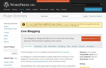 http://wordpress.org/extend/plugins/live-blogging/