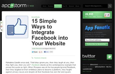 http://web.appstorm.net/roundups/social-media-roundups/15-simple-ways-to-integrate-facebook-into-your-website/
