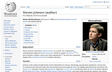 http://en.wikipedia.org/wiki/Steven_Johnson_(author)