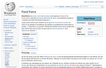 http://fr.wikipedia.org/wiki/Food_Force