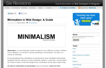 http://sixrevisions.com/web_design/minimalism-in-web-design-a-guide/