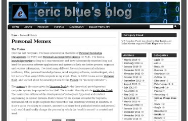 http://eric-blue.com/my-projects/personal-memex/