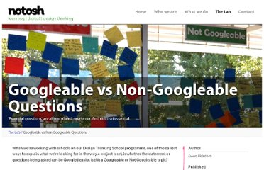 http://notosh.com/lab/googleable-vs-non-googleable-questions/