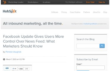 http://blog.hubspot.com/blog/tabid/6307/bid/34243/Facebook-Update-Gives-Users-More-Control-Over-News-Feed-What-Marketers-Should-Know.aspx