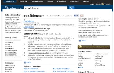 http://dictionary.reference.com/browse/confidence