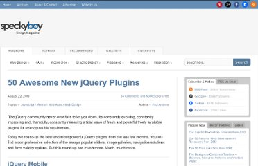 http://speckyboy.com/2010/08/22/50-awesome-new-jquery-plugins/