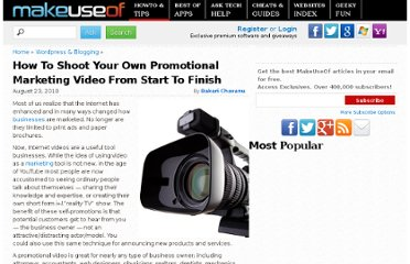 http://www.makeuseof.com/tag/shoot-promotional-marketing-video-start-finish/