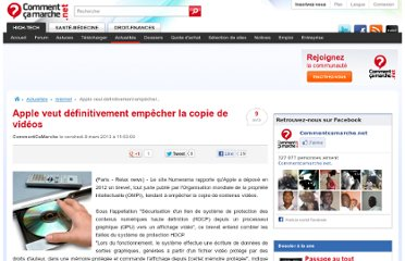 http://www.commentcamarche.net/news/5862145-apple-veut-definitivement-empecher-la-copie-de-videos