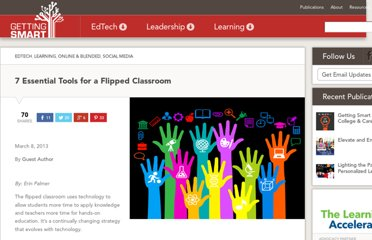 http://gettingsmart.com/cms/blog/2013/03/7-essential-tools-for-a-flipped-classroom/